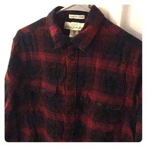 Men's LOGG H&M red plaid flannel button down